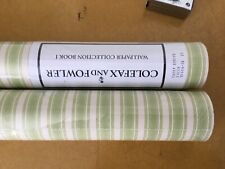 Colefax and Fowler Wallpaper Book I Candy Stripe Green 2 Rolls Nip
