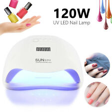 120W LED Nail Dryer UV Light Lamp Curing Gel Nail Polish Professional Timer