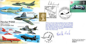 EJA 9 Hawker P1052 RAF cover signed DUKE DSO DFC 50th Ann Speed Record Postmark
