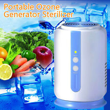 Home Ozone Generator Fridge Food Fruit Vegetables Sterilizer Fresh Air Purifier