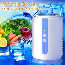 Home Ozone Generator Fridge Food Fruit Vegetables Sterilizer Fresh Air Purifier