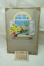 VINTAGE ADVERTISING CALENDAR TOP EMBOSSED 3D WINDOW DIECUT CZECH UNUSED 1930s