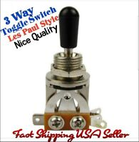 3 Way Pickup Toggle Switch. Fits Gibson® Les Paul, Epiphone & More USA Seller!