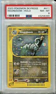 PSA 8 NM-MINT Pokemon Houndoom Holo Rare 2003 Skyridge #H11/H32
