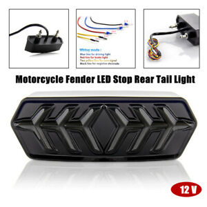 Motorcycle Dirt Bike Fender LED Stop Rear Tail Light Turn Signal Lamp Light Part