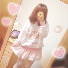 Harajuku Kawaii Girls Sweety Cat Printing Pattern Sweater Long Sleeve Sweatshirt