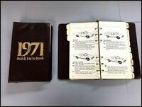 1971 Buick Dealer Fact Data Book Brochure Catalog  - Centurion Riviera LeSabre