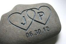 Heart Initials Custom Engraved Oathing Stone Personalised Wedding River Rock