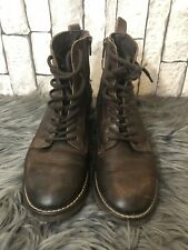 ladies ankle boots next real leather brown laces size 4 good condition