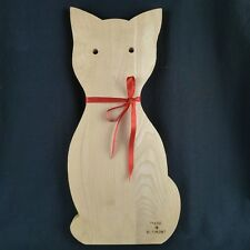 Cat Shaped Wood Cutting Board Made In Vermont For Use or Decor