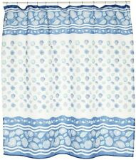 South Beach Fabric shower curtain, 100% polyester 70x72, color light blue