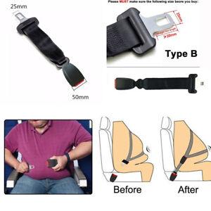 """2Pcs 38.5CM Car SUV Seat Belt Extender 0.98"""" Wide Tongue Seat Lap Belt Extension"""