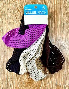 Conair Value Pack Headband Hairband Headwraps 6 Count Multicolor