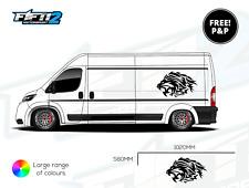 2 Large Van Tribal Lion Vinyl Stickers Graphics Decals Racing Car Van