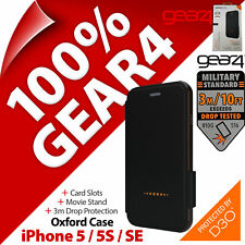Gear4 Oxford D3O Impact Protection Case Folio Stand for Apple iPhone 5 / 5S / SE