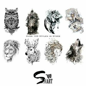 ULTIMATE TATTOO SHOP Animal Monster Collection Body Art Sticker Set Deal 3 5 10