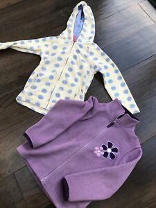 Peter Storm Girls Fleece Hoodie X 2 Age 5-6 Great For Camping & Play