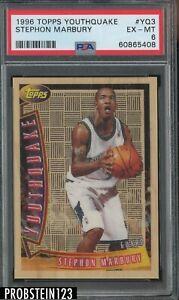 1996 Topps Youthquake #YQ3 Stephon Marbury Timberwolves RC Rookie PSA 6 EX-MT