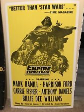 THE EMPIRE STRIKES BACK STAR WARS EPISODE IV MOVIE POSTER