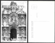 Old Postcard - Lima, Peru - Templo de la Merced - Real Photo, RPPC