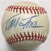 TRACY JONES Signed Autographed Baseball Beckett BAS H05190 Cincinnati Reds Expos