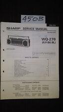 sharp wq-276 Service Manual Original Repair book boombox ghettoblaster radio