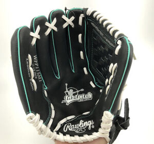 """Rawlings Fastpitch Softball Glove Leather Palm WFP115MT  11.5"""" Left Hand Thrower"""