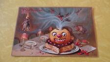 Antique Vintage Tuck Halloween Postcard Witch Pumpkin Devils Party 1908 Embossed