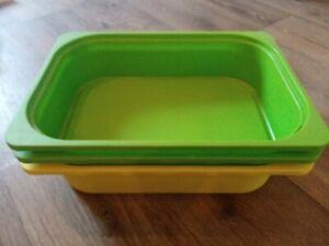 Ikea trofast boxen 1× Gelb und 2x Grün 42x30x10 cm
