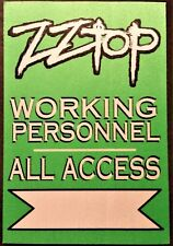 ZZ TOP -- 2002 CASINO TOUR - WORKING PERSONNEL - ALL ACCESS SATIN BACKSTAGE PASS