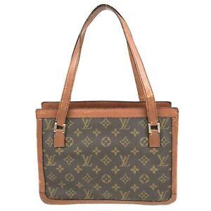 100% Authentic Louis Vuitton Monogram Sac Bavolet Handbag No. 167 USED{09-0353}