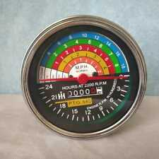 Speedometer Tachometer For IH Farmall Tractors IHSP02 With Chrome Bezel