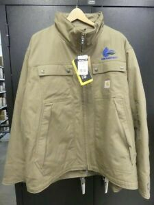 NWT MENS CARHARTT BROWN INSULATED COAT SIZE XL