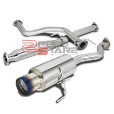 "94-01 INTEGRA GSR DC2 HATCHBACK STAINLESS EXHAUST CATBACK 4.5"" MUFFLER BURNT TIP"