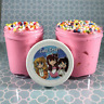 "Bread SLIME ""Princess Bread"" Pink Rainbow Foam Beads Scented 4 6 8 oz Soft ASMR"