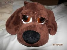 "Russ Berrie Big Eyed Chocolate Brown Wakely 9"" Puppy GUC"
