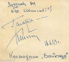 GAGARIN TITOV Signed Book Autograph Signature First Soviet Cosmonaut Space Rare!