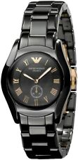 Emporio Armani AR1412 Black Ceramic Black MOP Dial Womens Classic Dress Watch