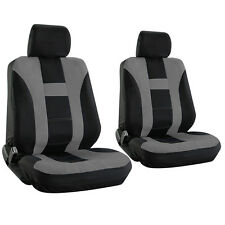 Seat Cover for Jeep Grand Cherokee w/Detachable Head Rest Gray Bucket H Stripe