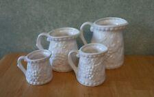 4 Piece Vintage NAPCOWARE MEASURING CUPS Pitcher Set Grape Pattern
