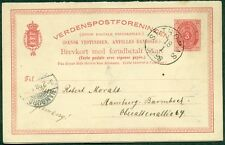 Dwi #Bkd4a 3¢ Double card tied St. Thomas to Germany, scarce type, Facit $155