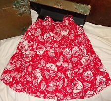 Gap Villa Red White Flower Floral Dress Size S Small 6/7