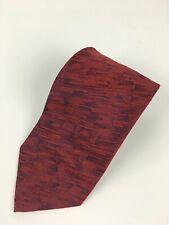 Vintage Villa Bolgheri Mens Tie Made in Italy 100% Silk Red