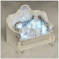 Victorian Style White Sofa Christmas Winter Wonderland LED Christmas Decoration