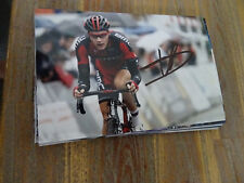 LOIC VLIEGEN - BMC - TOUR DE FRANCE CYCLING - PHOTOGRAPH ORIGINAL SIGNED *