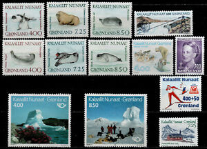 GREENLAND - YEARS 1991/1994 n°199 to 207, 231/232 and 235/236  - MNH -