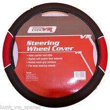 SAKURA Racing Steering Wheel Cover RED Mesh UNIVERSAL -ss1446