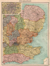 EASTERN ENGLAND. East Anglia Home Counties East Midlands London 1898 old map