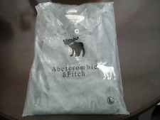 MENS ABERCROMBIE & FITCH GREY MUSCLE FIT POLO SHIRT SIZE LARGE (NEW)