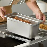 """(3-Pack) 1/3 Size 6"""" Deep Stainless Steel Steam Table / Hotel Buffet Food Pans"""